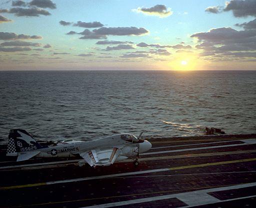 A-6E VMA(AW)-533 aboard aircraft carrier 1982