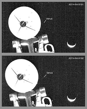 Examination of Apollo Moon photographs - Enhancement of Apollo 14 photos AS14-64-9191 and AS14-64-9192 showing the planet Venus
