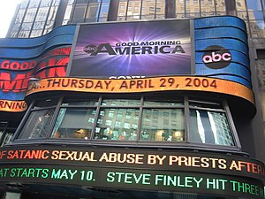 Times Square Studios - Exterior (looking east from Broadway) of the Times Square Studios (April 2004).