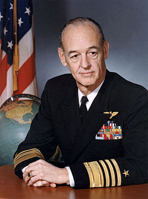 John Thach - Official Navy portrait of Admiral John S. Thach