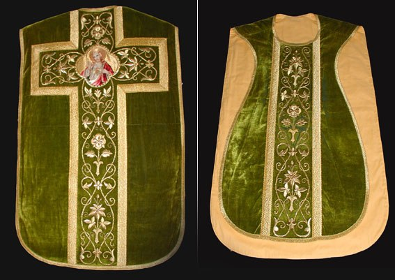 "A ""fiddleback"" chasuble from the church of Saint Gertrude in Maarheeze in the Netherlands"