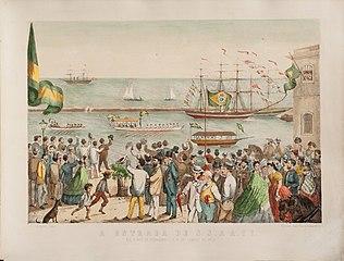 A Entrada de S S. A A. II no Porto de Pernambuco a 16 de Janeiro de 1865