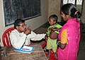 A Health Camp jointly conducted by the Hepatitis Foundation and Press Information Bureau during the Bharat Nirman Abhiyan, in Tripura on March 23, 2008.jpg
