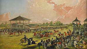 Horse racing in the United States - Horse racing at Jacksonville, Alabama, 1841