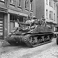 A Sherman tank of 8th Armoured Brigade in Kevelaer, Germany, 4 March 1945. B15145.jpg