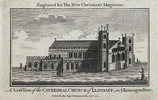 A north view of the Cathedral church of Llandaff, in Glamorganshire