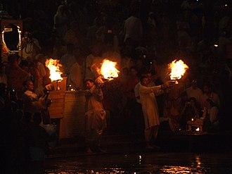 Haridwar - Image: Aarti at Har ki Pauri, Haridwar