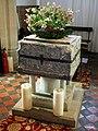 Abbess Roding - St Edmund's Church - Essex England - baptismal font.jpg