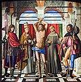 Accademia - San Sebastiano tra i SS. Liberale e Gregorio, Francesco e Rocco, Tavola,203x201, Cat.97 Giovanni Mansueti.jpg