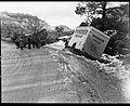 Accident involving a Wonder Bread truck which slid off road east of small tunnel because of icy road and too much speed, saved (a8e99a15727a4f93a5307b67d125c5b2).jpg