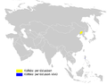 Acrocephalus sorghophilus distribution map.png