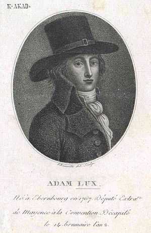 Adam Lux - Adam Lux, drawing by François Bonneville