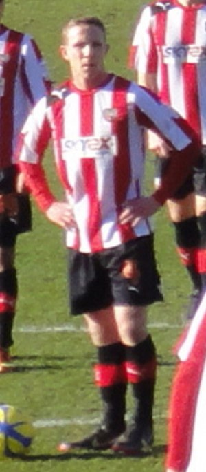 Adam Forshaw - Forshaw preparing to take a free kick for Brentford in 2013.