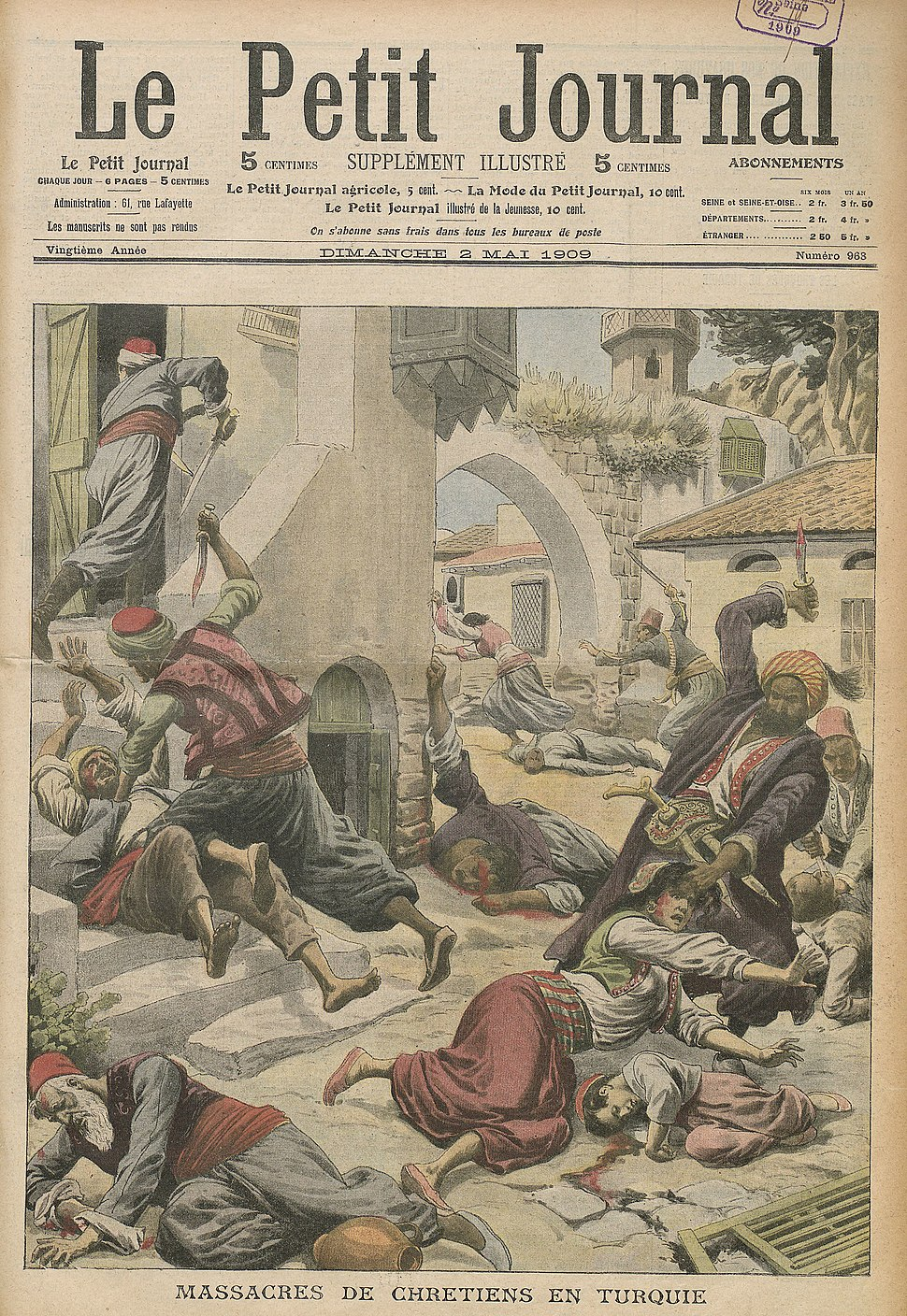 Adana massacre in Le Petit Journal (1909)