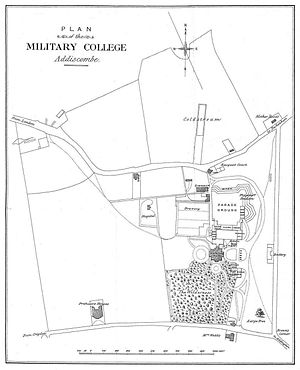 Addiscombe Military Seminary - Plan of the Seminary grounds.