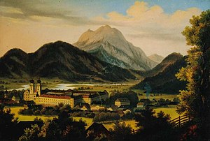 Admont - Painting of Admont in 1840 by Anton Schiffer.
