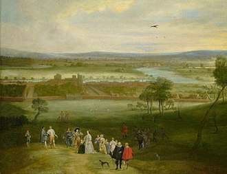Greenwich - Adriaen van Stalbemt's A View of Greenwich, c. 1632. Royal Collection, London.