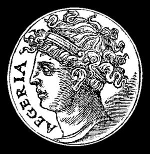 Egeria (mythology) - A 16th-century drawing of Egeria