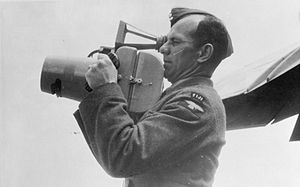 Frederick Charles Victor Laws - RAF serviceman with an hand-held F24 camera