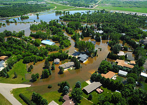 2011 Souris River flood - Flooding in Minot on June 23