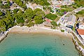 Aerial view of the beach Porat on Bisevo island in Croatia (48608771397).jpg