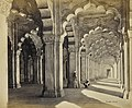 Agra, Interior of the Motee Musjid, showing the marble Saracenic arches and pillars, 21816101.jpg
