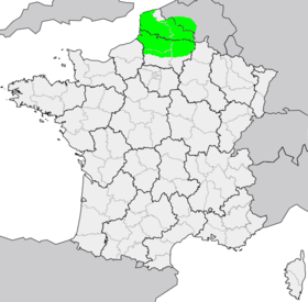 L'aire de répartition du picard.