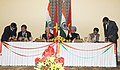 Ajit Singh and the Minister for Transport, Vietnam, Mr. Dinh La Thang signing the Air Service agreement between the Republic of Vietnam and the Republic of India, in the presence of the Prime Minister.jpg