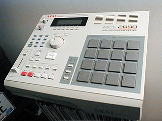 Sampler (musical instrument) - An AKAI MPC2000 sampling sequencer (1997)