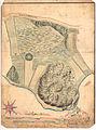 Akershus amt nr 103- Geometrisk Situations-Cart over Lÿke beliggende 1-4 Miil fra Christiania under Gaarden Frogner, 1752.jpg
