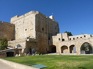 Palestine (region) - The Crusader fortress in Acre, also known as the Hospitaller Fortress, was built during the 12th century.