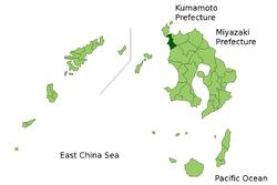 Vị trí của Akune ở Kagoshima