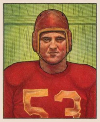 Al DeMao - DeMao on a 1950 Bowman football card