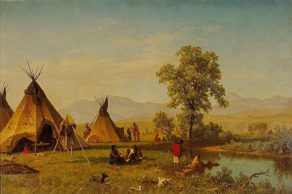 https://upload.wikimedia.org/wikipedia/commons/thumb/a/a8/Albert_Bierstadt_-_Sioux_Village_near_Fort_Laramie.jpg/1024px-Albert_Bierstadt_-_Sioux_Village_near_Fort_Laramie.jpg
