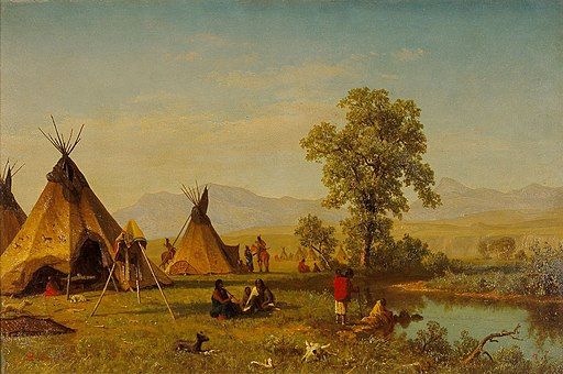 Albert Bierstadt - Sioux Village near Fort Laramie