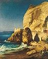 Albert Hertel - Uferstück auf Capri mit Figurenstaffage.jpg