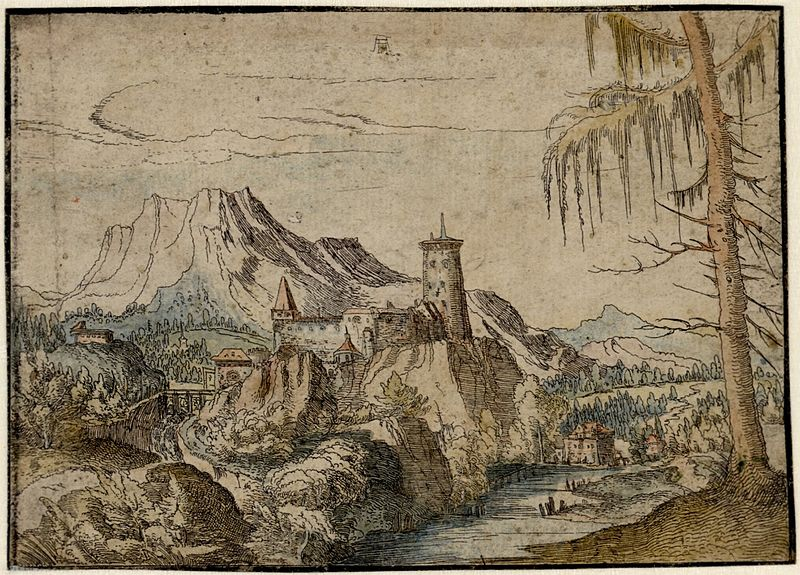 File:Albrecht Altdorfer - Landscape with a Big Castle (hand-coloured) Albertina DG1926-1780.jpg