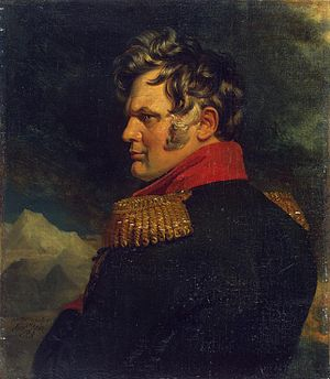 Aleksey Petrovich Yermolov - Aleksey Yermolov, no later than 1825, by George Dawe.