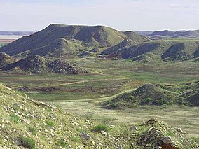 A photo of hills in Alibates Flint Quarries National Monument