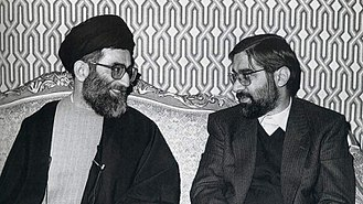 Mir-Hossein Mousavi - Mousavi (right) with then-President Ali Khamenei (left)