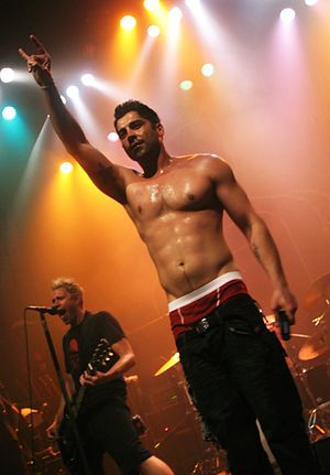 Zebrahead - Ali Tabatabaee lead singer of Zebrahead performing in 2011