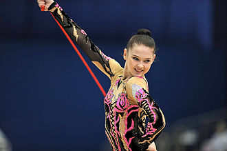 Alina Maksymenko - Alina Maksymenko performs with rope at 2009 World Championships at Mie, Japan