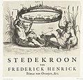 Allegorie op de verovering van Maastricht en andere steden, 1632 Stedekroon van Frederick Henrick Prince van Oranjen, &c. (titel op object), RP-P-OB-81.351.jpg