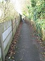Alley between Blenheim Road and Woodstock Avenue - geograph.org.uk - 1606744.jpg