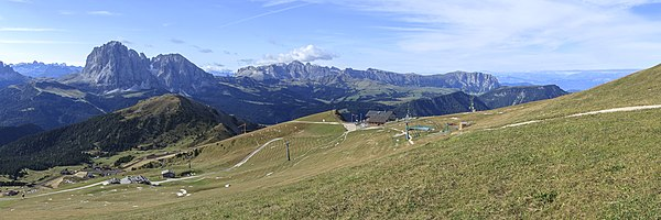 View from the Seceda, South Tyrol, to the Seiser Alm