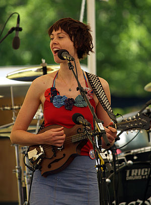Musician Amanda Barrett of The Ditty Bops perf...
