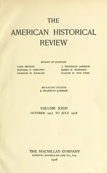 American Historical Review, Vol. 23.djvu