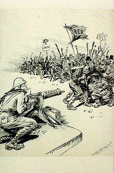 Caricature antibolchevique parue en 1919 dans le   New York Herald  .