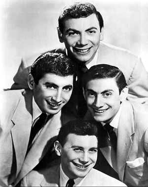 Ames Brothers - The Ames Brothers in 1955.  Clockwise from top: Ed, Vic, Joe and Gene