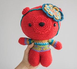 Amigurumi - Amigurumi bear. Example of a large size amigurumi.